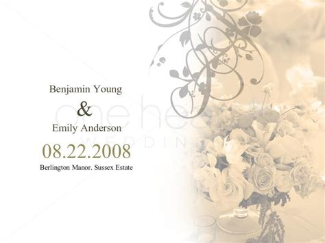 Wedding Slideshow Animation by Flower Wedding Powerpoint Slide 1