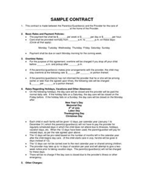 family day care parent handbook template 1000 ideas about daycare contract on home