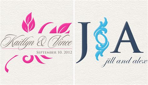 Wedding Event Logo by Event Logo House Custom Wedding Monograms And Logos