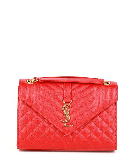 saint laurent  flap monogram ysl medium envelope chain
