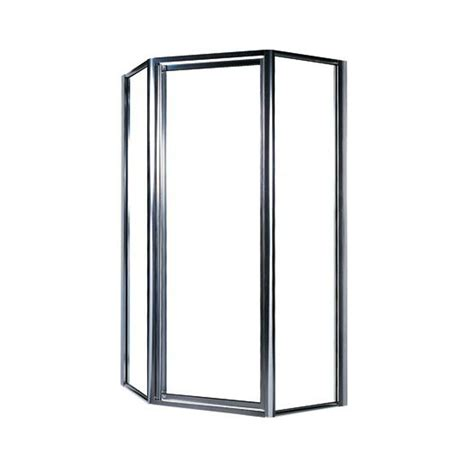 Swan 38 In Neo Angle Shower Door With Clear Glass Angle Shower Doors