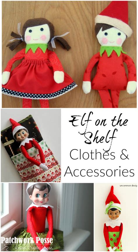 printable elf accessories free elf on the shelf clothing patterns and accessories
