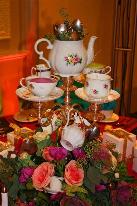 mad hatter themed decorations in tea beautiful and creative