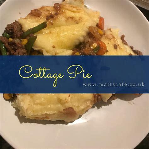Bisto Cottage Pie Recipe by Cottage Pie With Beautiful Mash Matt S Cafe