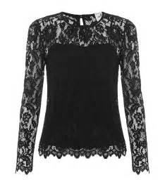 Milly sheer lace blouse in black lyst