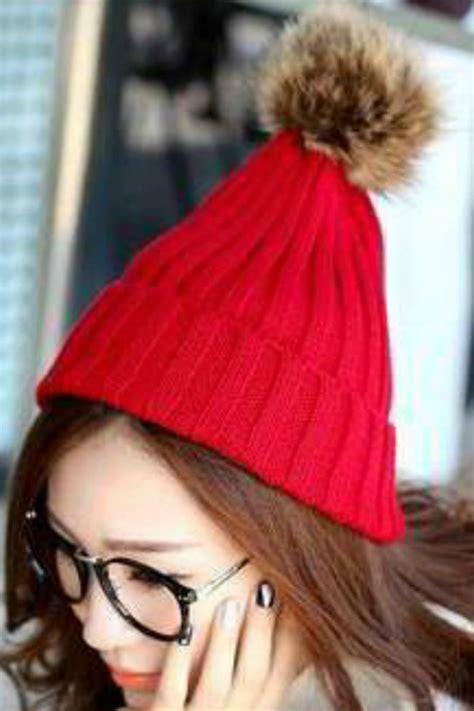Hat Fur Cap Topi Rajut Wool Untuk Musim Dingin topi rajut musim dingin 2 color knitted hat jyg01b931 coat korea