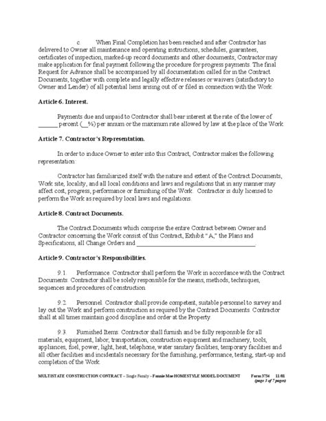 general construction contract template general construction contract form free