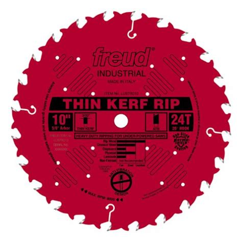 freud lu87r010 10 inch 24 tooth ftg thin kerf ripping saw