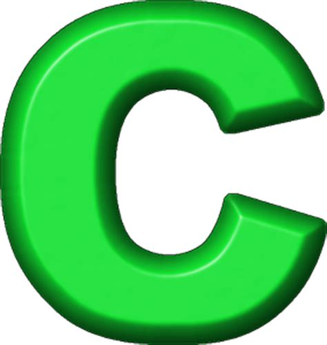 Green C presentation alphabets green refrigerator magnet c