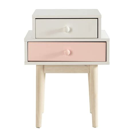 Table De Nuit Maison Du Monde by Table De Chevet En Bois Blanche L 42 Cm Blush Maisons Du