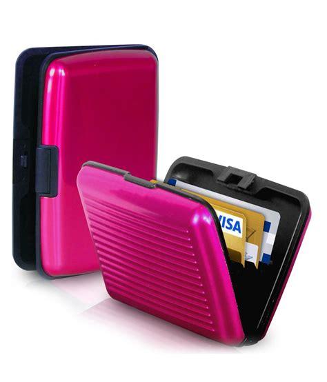 Return Item Bought With Gift Card For Cash - chevron slim credit cash card holder secure wallet money holder for men women pink