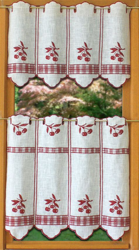 cherry kitchen curtains curtain design