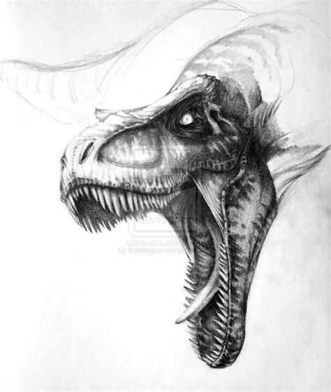 t rex sketch by tcdehoyos on deviantart