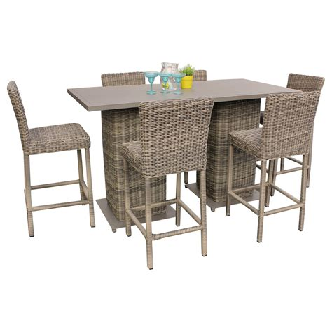 patio furniture pub table sets royal pub table set with barstools 5 outdoor wicker