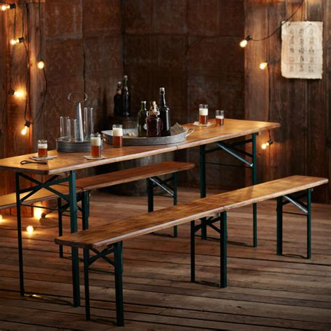 Biergarten Table by Roost Biergarten Table And Benches Remodelista