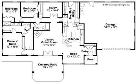 Ranch Style Floor Plan by 4 Bedroom Modular Home Floor Plans 4 Bedroom Ranch Style