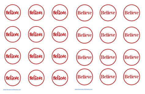 printable believe tags polar express ornament the resourceful mama