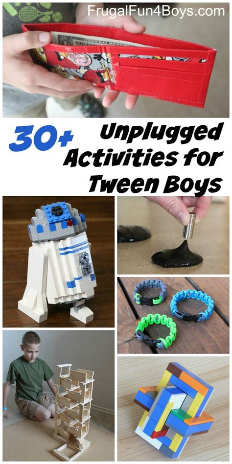 craft projects for tweens 20 unplugged activities for tween age boys crafts boys