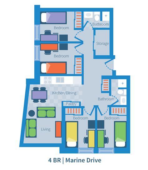 4 bedroom suite four bedroom suite