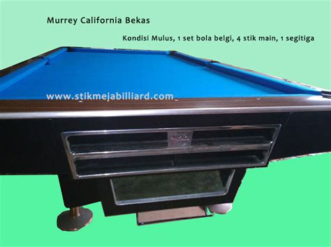 Meja Billiard Bekas meja billiard bekas second siap pakai murrey california 9 ft stikmejabilliard