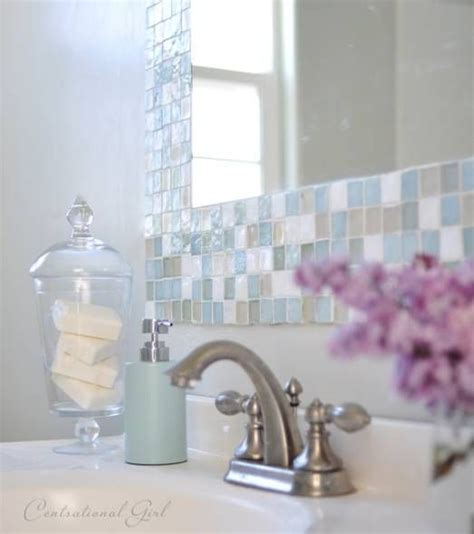make your own bathroom mirror frame 25 best ideas about tile mirror frames on pinterest