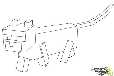 Minecraft Ocelot Coloring Pages how to draw an ocelot from minecraft drawingnow