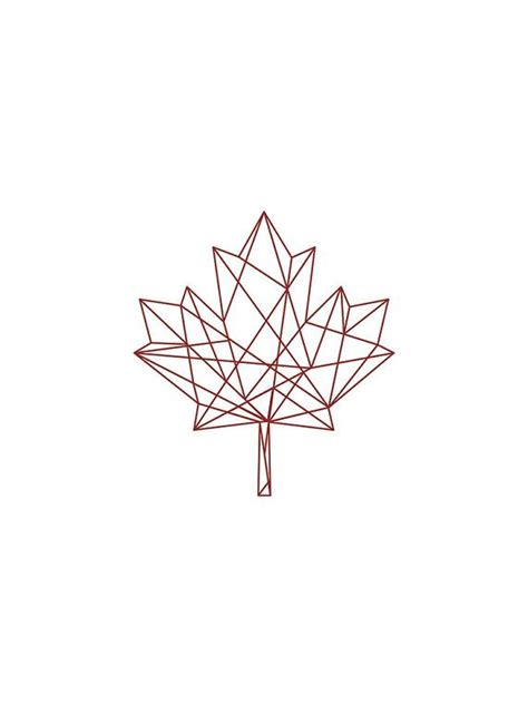 leaf pattern geometric best 25 maple leaf tattoos ideas on pinterest canadian
