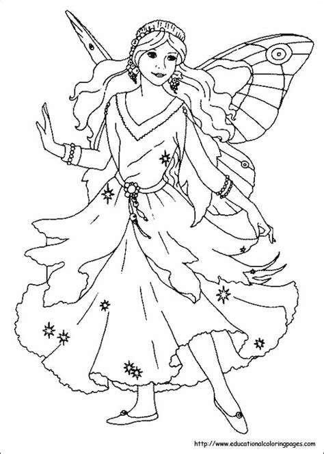 fairy horse colouring pages