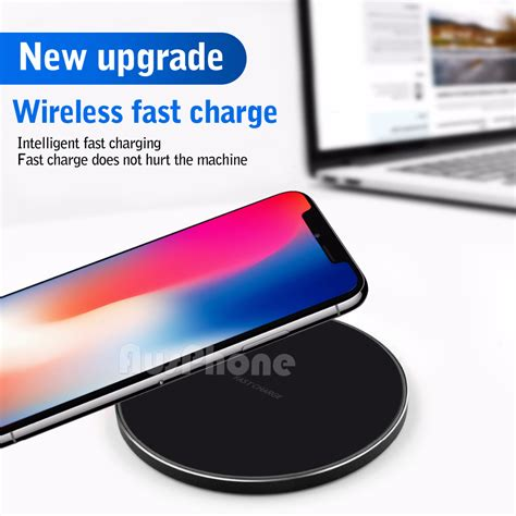 iphone xs max 8 fast charger qi wireless charging pad mat receiver samsung s9 s8 ebay