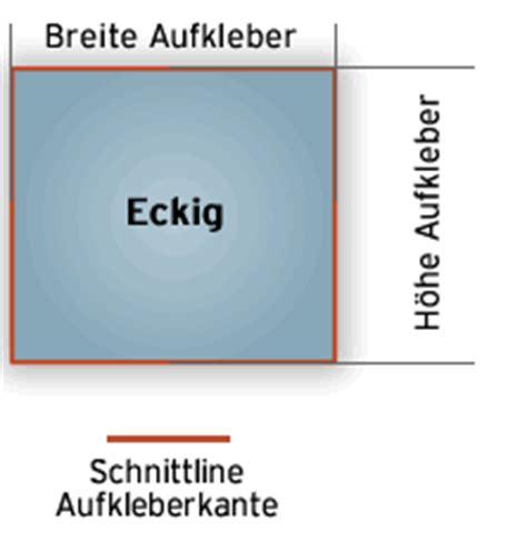 Sticker Drucken Ab 1 St Ck by Eckige Aufkleber Alle Gr 246 223 E Folie O Papier