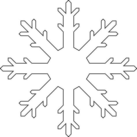 snowflake outline template snowflake colouring pages in the playroom