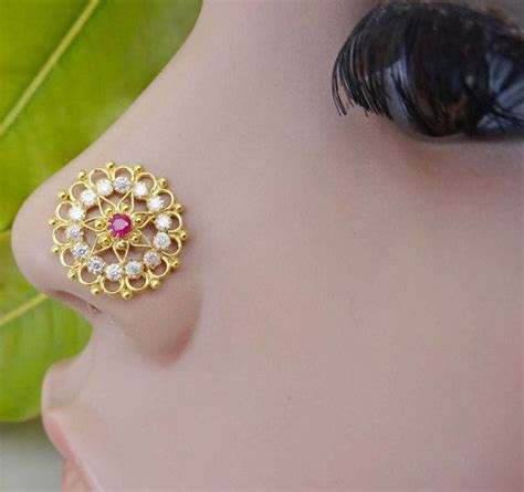 traditional nose piercing 17 best images about indian traditional nose pins on