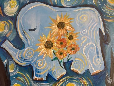 paint with a twist clermont happy gogh lucky elephant saturday april 8 2017