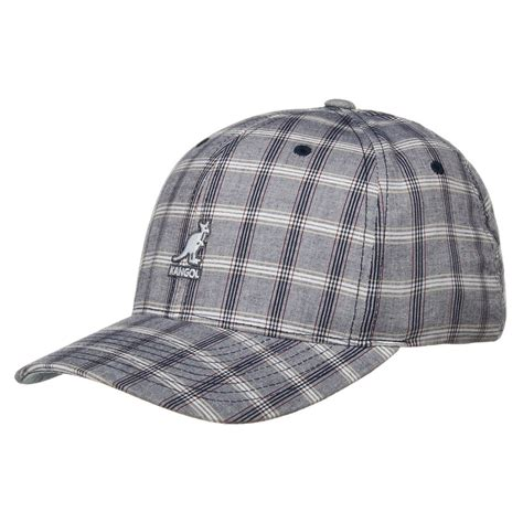 cotton plaid baseball cap by kangol caps hatshopping