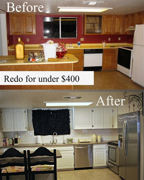 redo kitchen cabinets my kitchen redo under 400 classy clutter