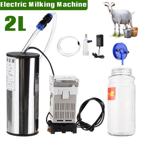 Portable Milker Electric Vacuum Machine For Cows Farm Lar 2l portable vacuum electric machine milker cow goat machine alex nld