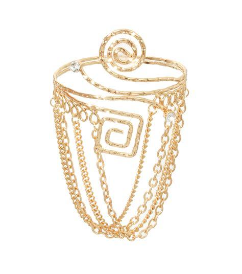 arm cuff bracelet gold arm cuff bracelet with chains arm