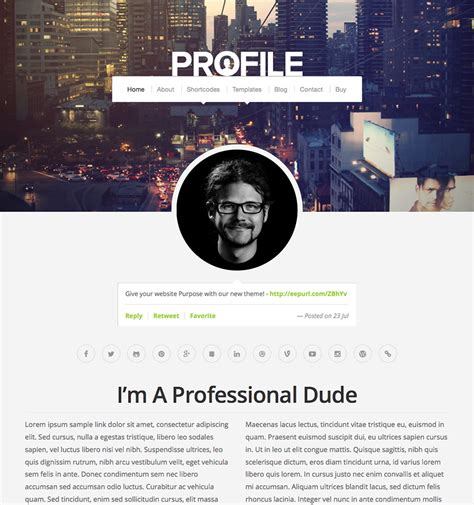Themes For Profile Pictures   profile theme wordpress themes by organic themes