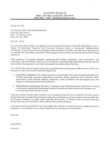 Elementary School Cover Letter by Elementary School Principal S Cover Letter Exle Letter Sle Teaching And