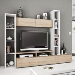 meuble tv avec rangement pc artzein
