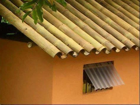 cara membuat jemuran dari bambu cara membuat atap bambu yang unik dari bilah bambu