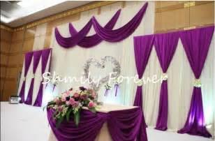 Hip Hop Curtains New Popular 1 Set 2small 1 Big White Purple Backdrops