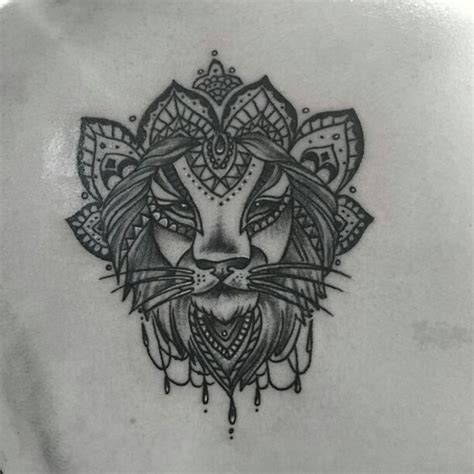 lion henna tattoo mandala my tattoos mandalas