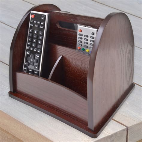 rotating bed with remote control revolving tv remote holder organiser wood wooden rotating storage ebay