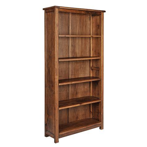 estante para livros de madeira estante em madeira maci 231 a acabamento envelhecido dn913