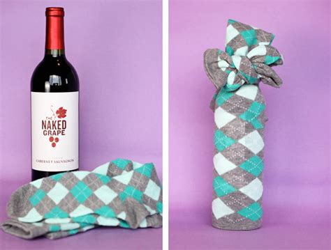 wine bottle gift wrapping wrapping a wine bottle with socks in craft ideas for
