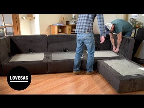 how to make a lovesac lovesac modular furniture assembly tips tricks review