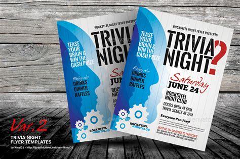 free trivia flyer template trivia flyer templates by kinzi21 graphicriver