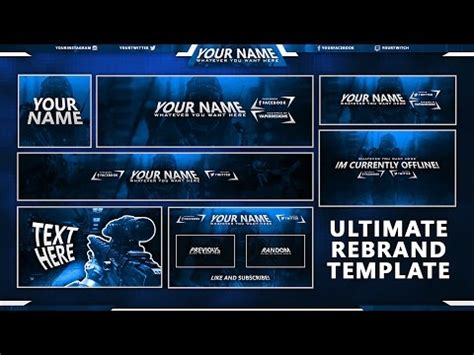 gfx psd templates free twitch offline image template afk brb