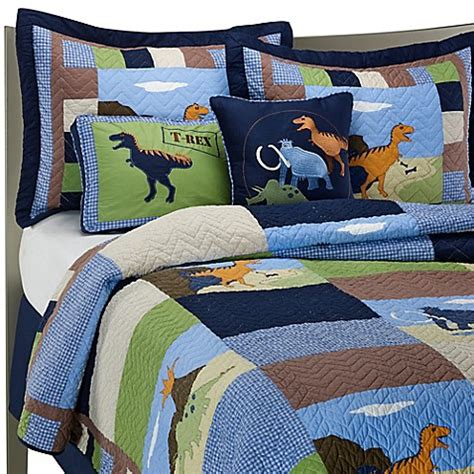Dinosaur Quilt Set 100 Cotton Bed Bath Beyond Dinosaur Bedding